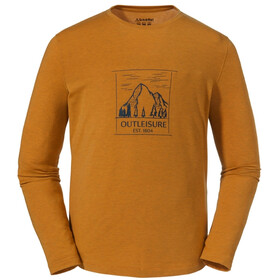 Schöffel Bukarest Longsleeve Heren, golden oak